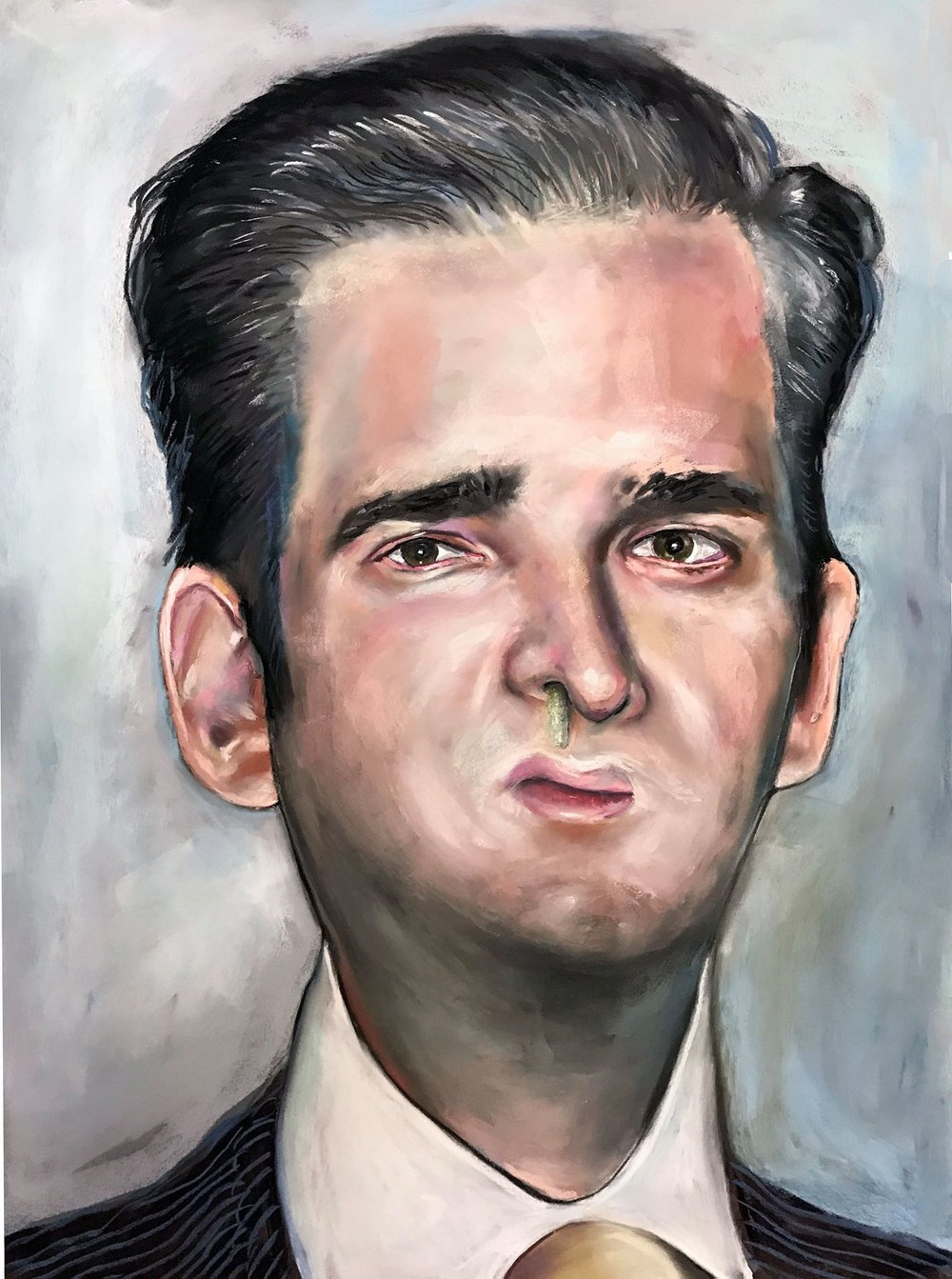 """""""Donald Andronicus, Jr."""" by Shayne Hull, pastel on board, 2017, $575"""