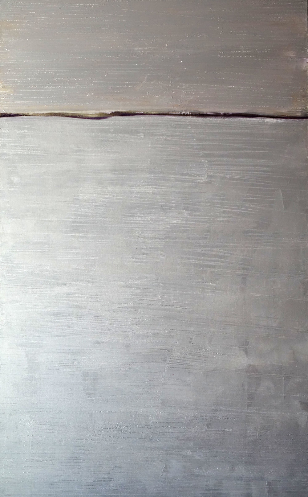 """Silvery Moonlight"" by Sandra Chu, acrylic, 65X40in, 2016, $2600"