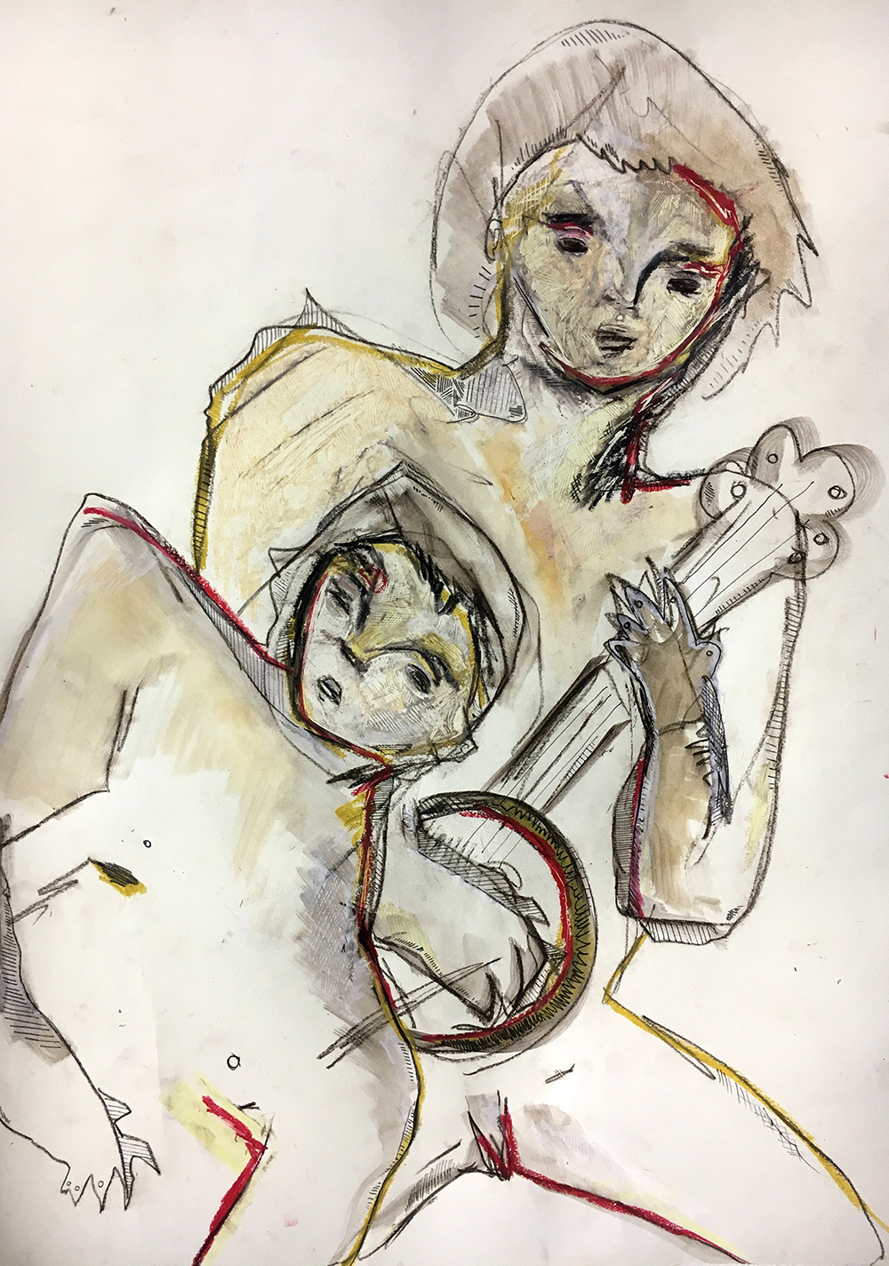 """Untitled Drawing"" by Joshua Jenkins, Pastel, Charcoal, and Graphite, 24x18in, 2017 $350"