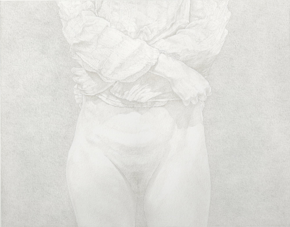 """The Friday Sessions - The Gauze Shirt 1"" by James Grubola, silverpoint, POR"