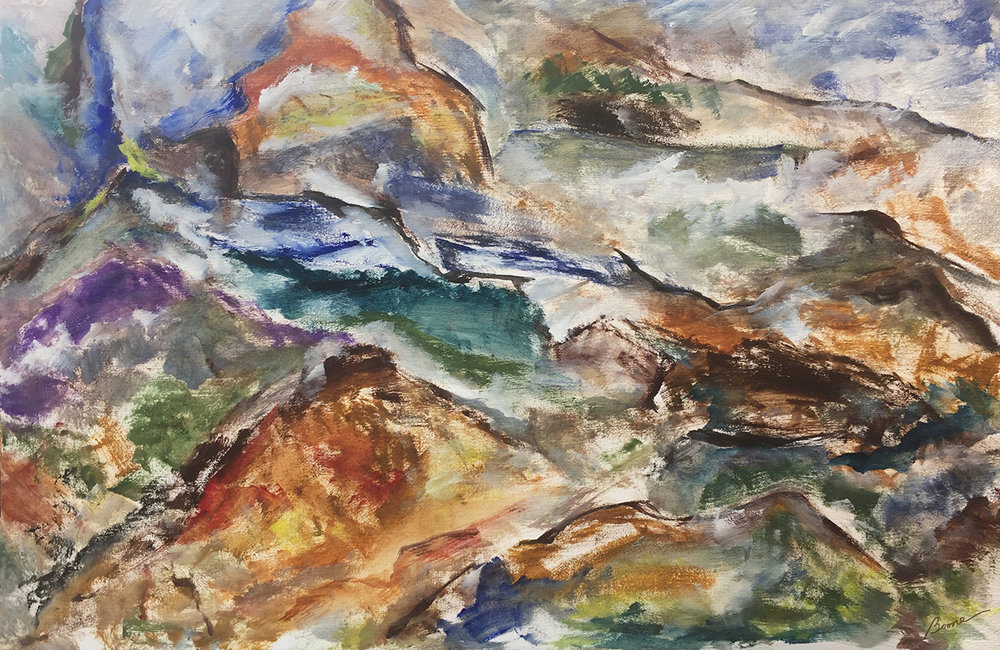 """Muir Pass"" by Karen Boone, Oil on canvas, 30x20in, 2017, $1950"