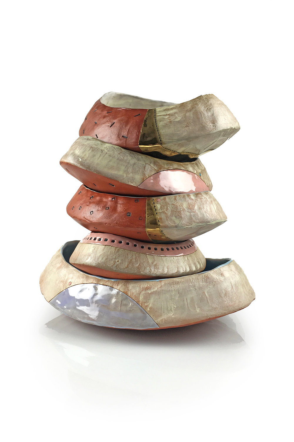 """Stacked Bowlin' "" by Didem Mert, Mid-range stoneware, 15x9x9in, 2016, between $73-$77 each"