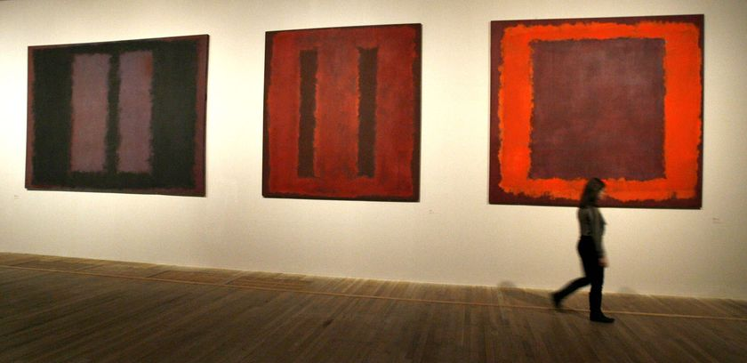 Mark Rothko's Seagrams paintings at London's Tate Gallery.