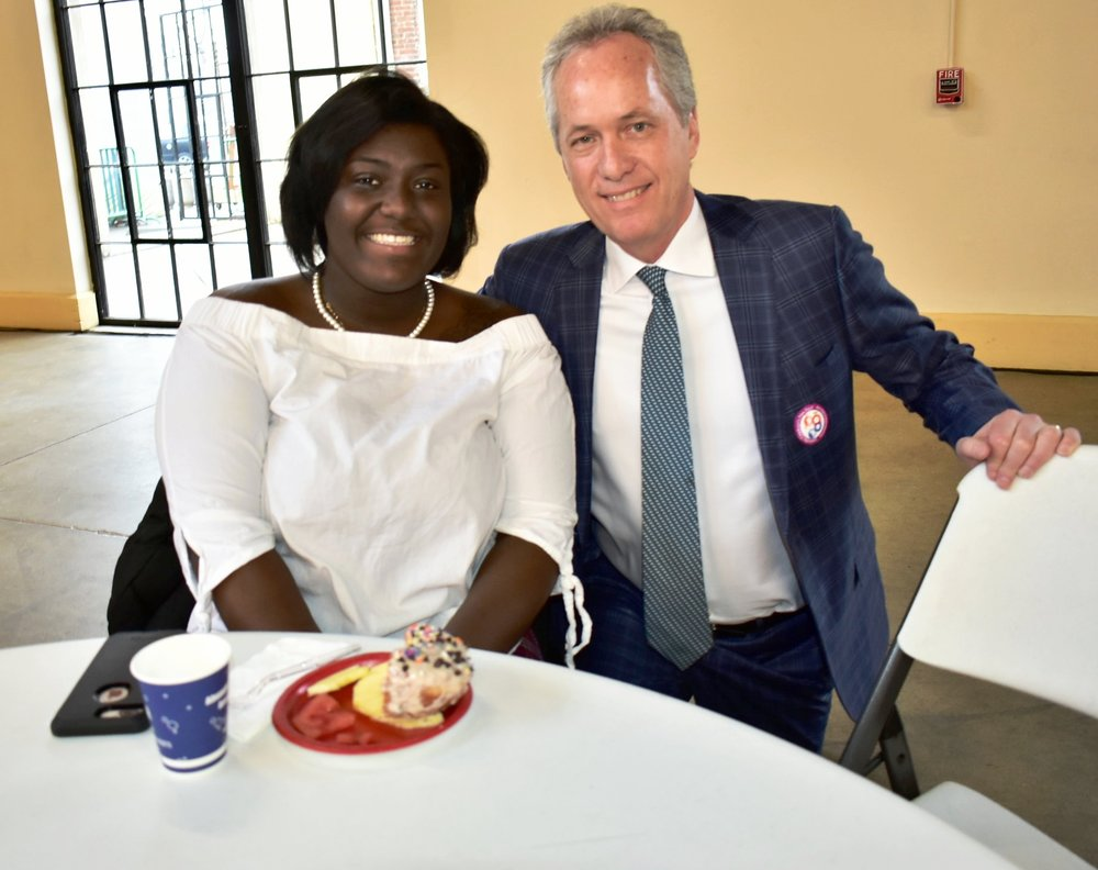 LVA student Donielle Pankey with Mayor Greg Fischer