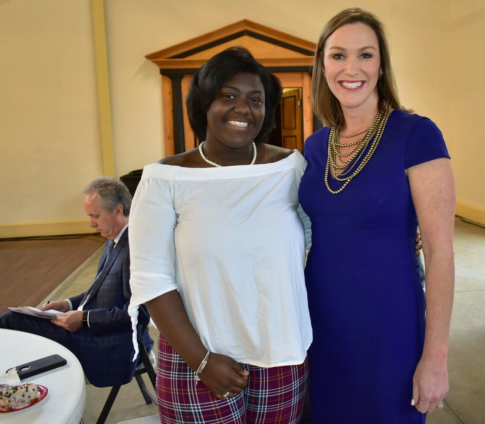 LVA student Donielle Pankey with Fund for the Arts President & CEO Christen Boone