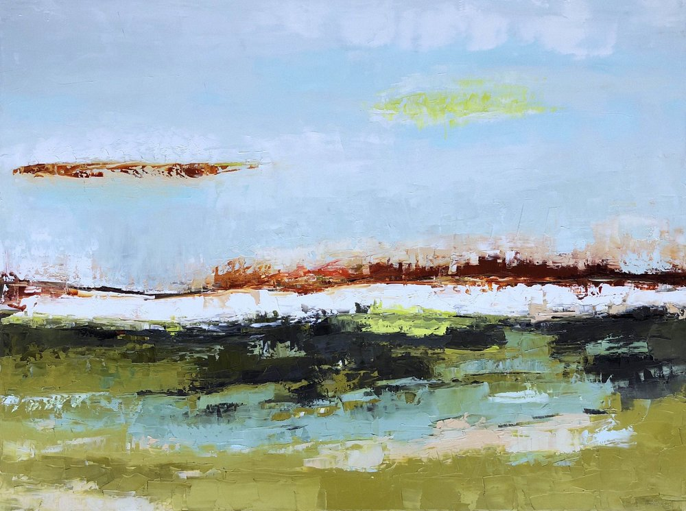 """Winter Field"" by Shawn Marshall, Oil on Canvas, 36x48in, 2018"