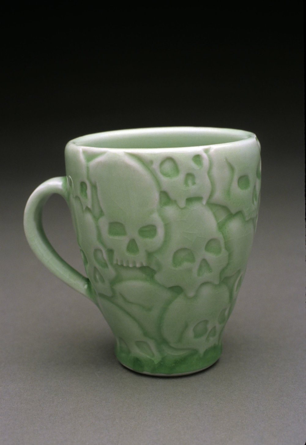 """Killing Fields Mug"" by Steven Cheek, Porcelain, 4.5x3.5x4in, 2017, POR"