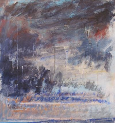 """""""Ouranos-Thalassa 122"""" by Henry Chodkowski, Acrylic on paper.161:4 x 151in, circa"""