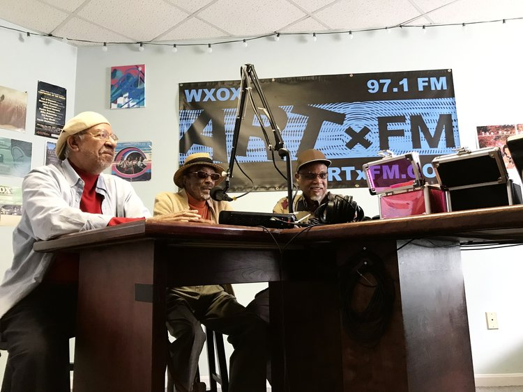 Ed Hamilton, Dr. Robert Douglas, and William Duffy in the WXOX studio on September 7, 2017.