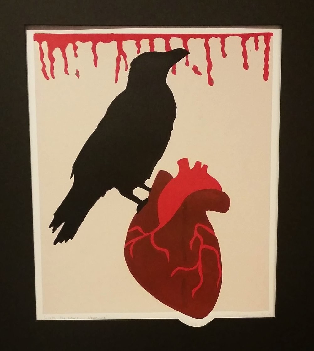 """Quoth the Heart... Nevermore"" by Abigail Munger, Acrylic print, 11x14in, 2017"