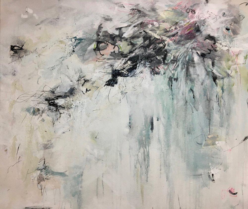 """Samurai"" by Teri Dryden,Mixed media,34x40in , 2018, $2175"