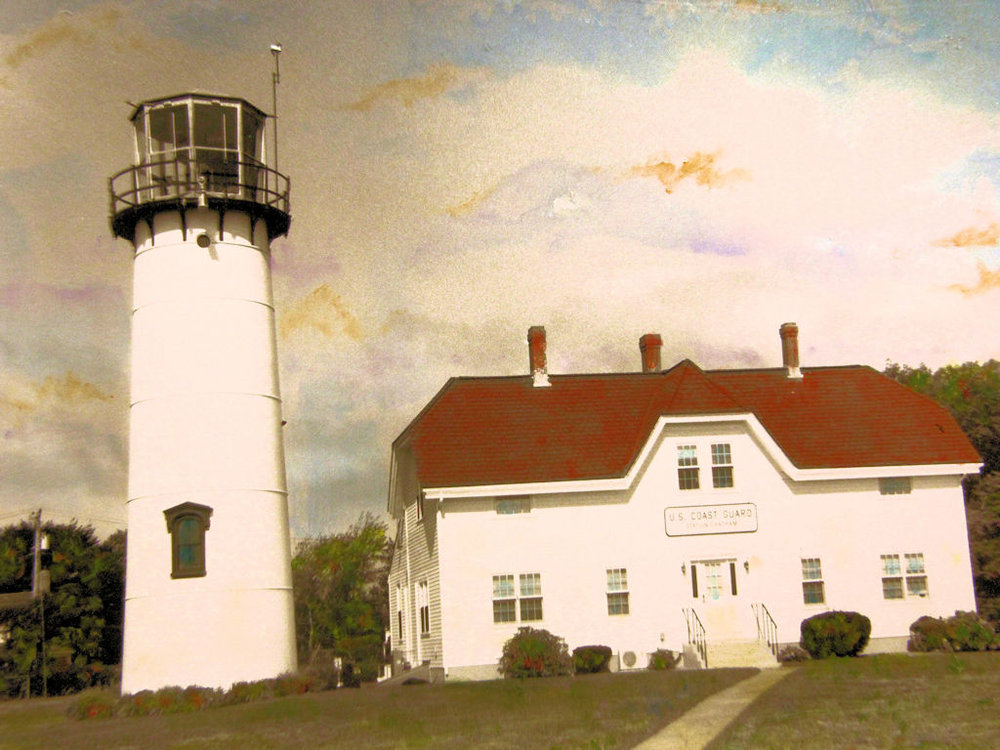 """Chatham Lighthouse--Cape Cod"" by Judy Rosati, Hand colored silver gelatin photograph, 16x20in matted & framed, 2016, $125"