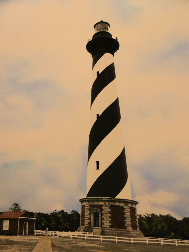 """Cape Hatteras Lighthouse, NC"" by Judy Rosati, Hand colored silver gelatin photograph, 16x20in matted & framed, 2017, $125"