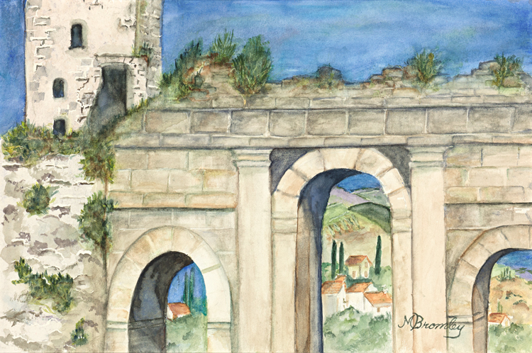 """Spello, Italy"" by Margaret Bromley, Oil on canvas, 10x14in, Private Collection, Giclee available, $195"
