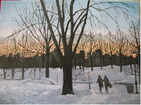 """NYC's Central Park"" by Pat Allison, Oil, 12x16in, Private collection"