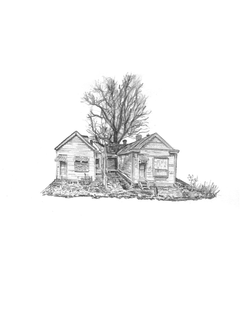 """717 E. Ormsby"" by Samantha Ludwig, Graphite on Paper, 9x14in, 201 $150"
