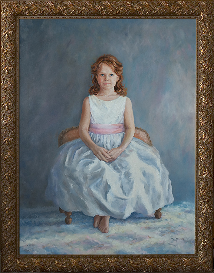 """Kate Wittpenn"" by Page Penna, Oil on linen, Private collection"