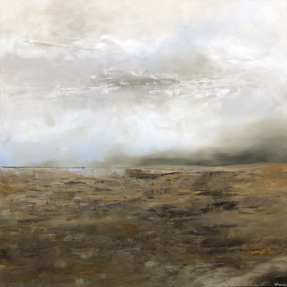 """February Mist"" by Shawn Marshall, Oil on canvas, 36x36in, 2019"