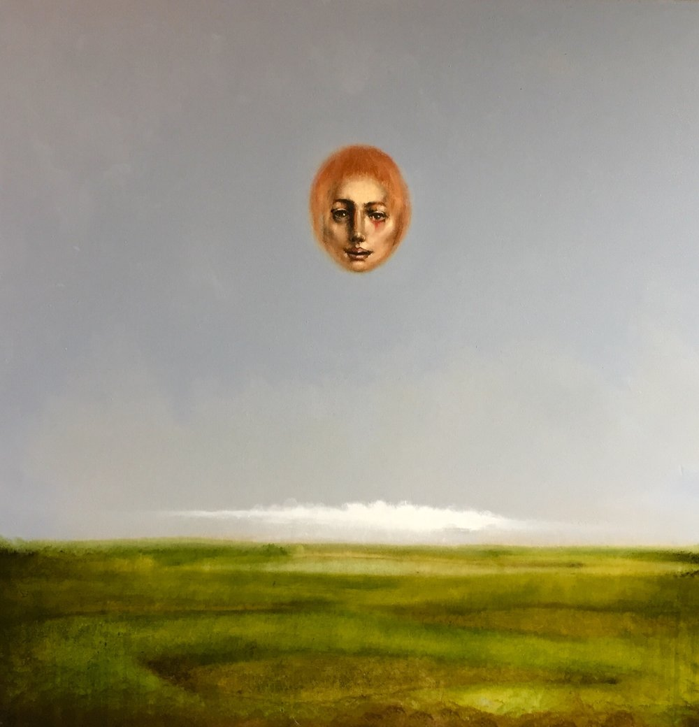 """Apparition"" by Hawk Alfredson, Oil on canvas, 24x24in, $2000. Available for purchase through silent auction at the 2019 Art[squared] Fundraiser"