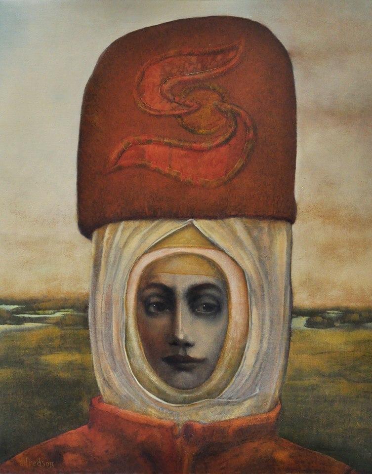 """""""Soaraurora"""" by Hawk Alfredson, Oil on canvas, 30x25in, 2012"""