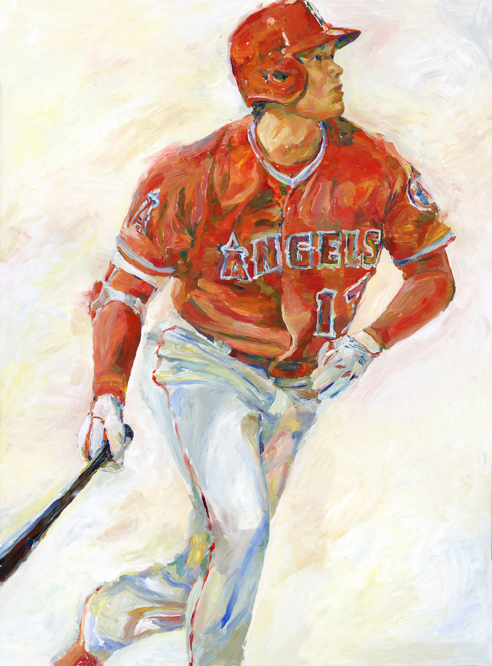 """Shohei Ohtani"" by Richard Sullivan, Acrylic on board, 36x48in, 2019 , POR"
