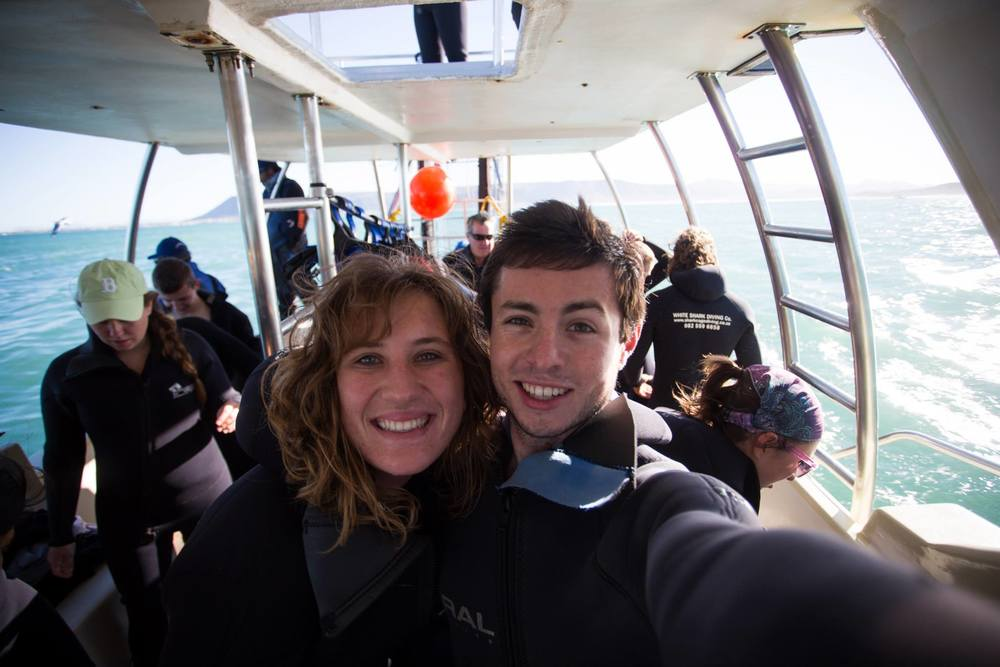 Taken just before we went diving with great whites in Cape Town.