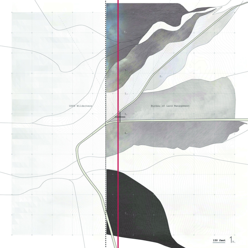 The proposed trail passing through Arizona and Utah.