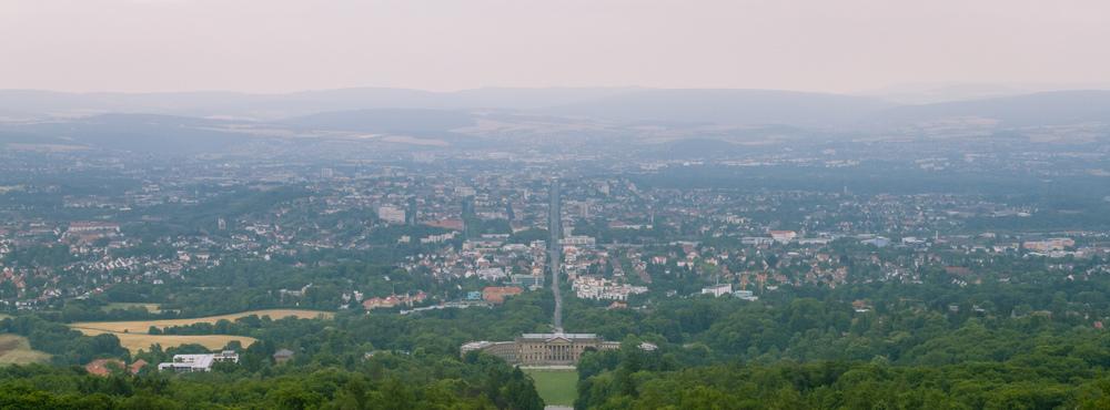 Die Großstadt Kassel vom Herkules betrachtet