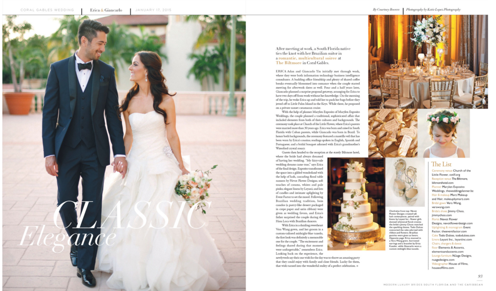 Modern Luxury Brides South Florida and The Caribbean