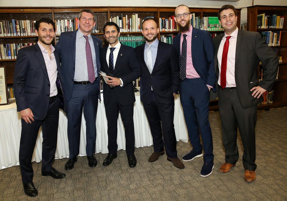 (L-R) Brett Walsdorf, John Reardon, Ravi Telidevara, Michael Groffenberger, Nicholas Manousos, Michael Fossner.