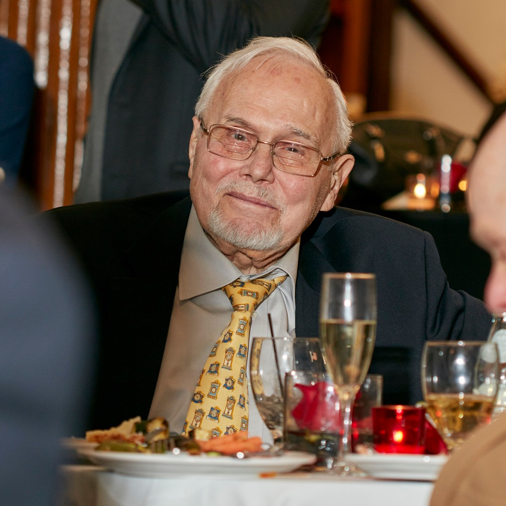 Hans Weber - Hans Weber (1932-2018) was an active member of HSNY for over 50 years, and was the only person to have attended both the 100th Anniversary in 1966 and 150th anniversary in 2016. Weber served as a Trustee for the Society, and was presented the Howard Fass award at HSNY's 150th Anniversary Gala. Weber worked at both Cartier and Tiffany & Co. in New York.