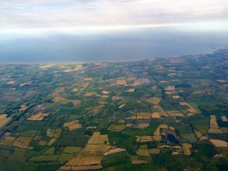 Flying into Ireland was just as I dreamt it would be with endless green fields!