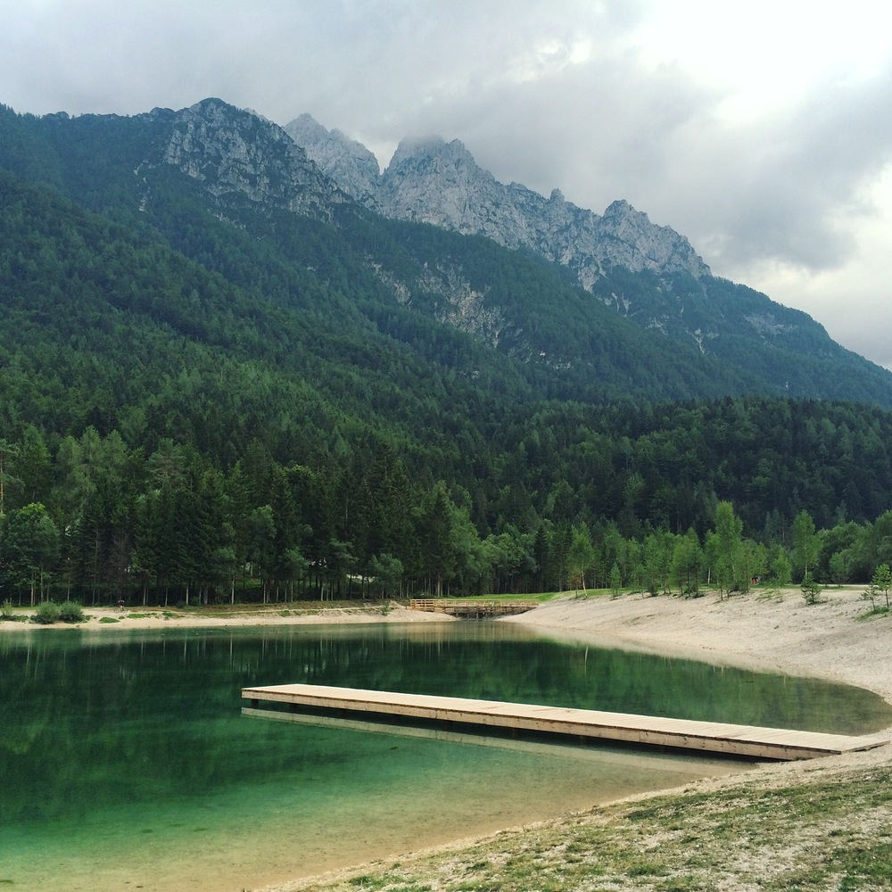 Lake Jasna was our first sight/stop in Slovenia just after the Slovenian/Austrian border.