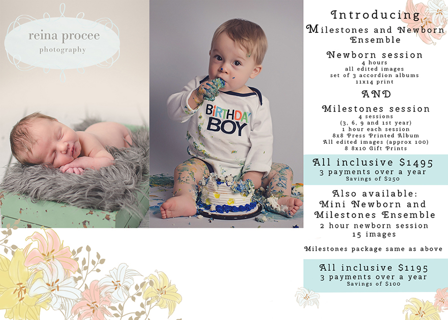 newborn and milestone package ensemble - premier montreal baby and child photographer