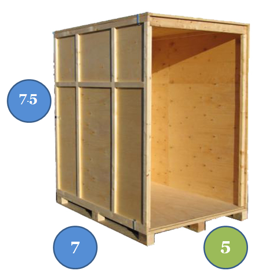 storage box illustration with dimensions