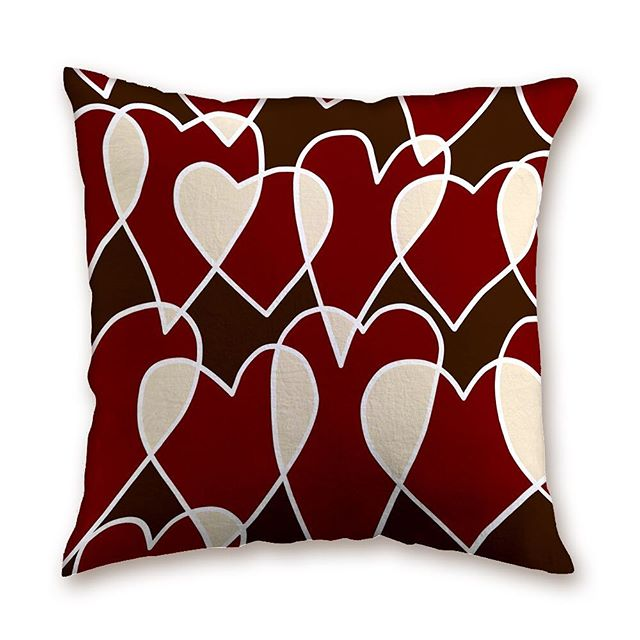 """""""Sweetheart"""" Dark Chocolate,  Dark Red, White Chocolate, all the colors you will find in our """"Sweetheart"""" decor pillow, this pillow makes any heart melt, but we only have one left, link in bio  #valentine'spillow #homedecor #interiordecor #interiordesign #mothersdaygift #hospitality #residentialdesign #LOVE"""
