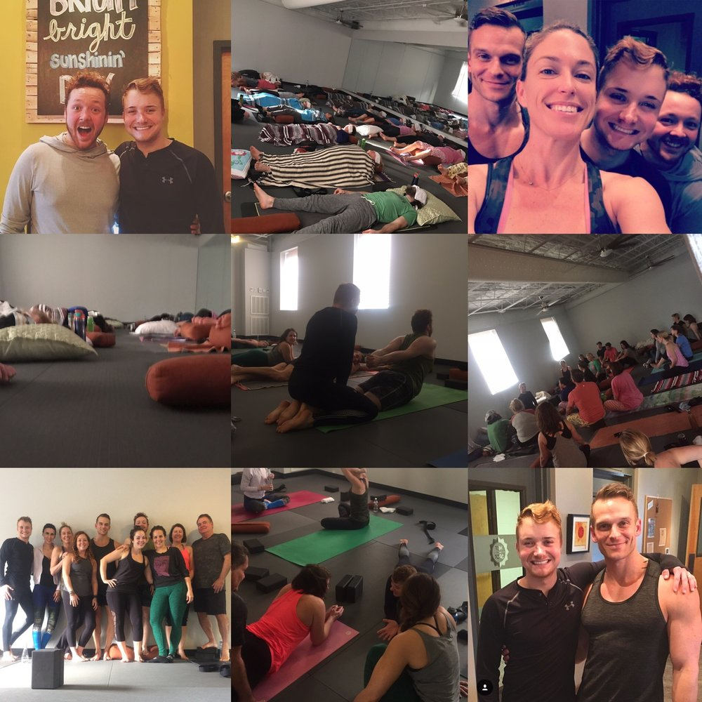 Saturday & Sunday, January 14 & 15.... An amazing weekend with amazing yogis!  There was an incredible amount of laughter, good times, questions answered and love spread.  Thanks for sharing with us!