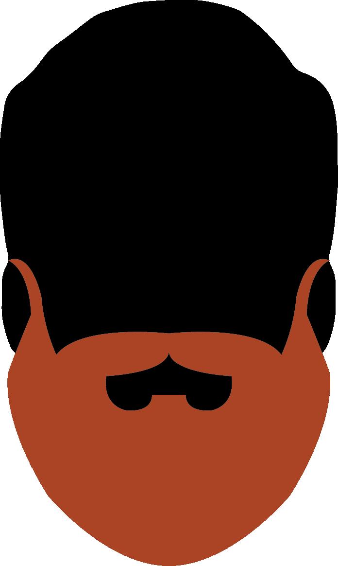 17. Natural Full Beard 15cm