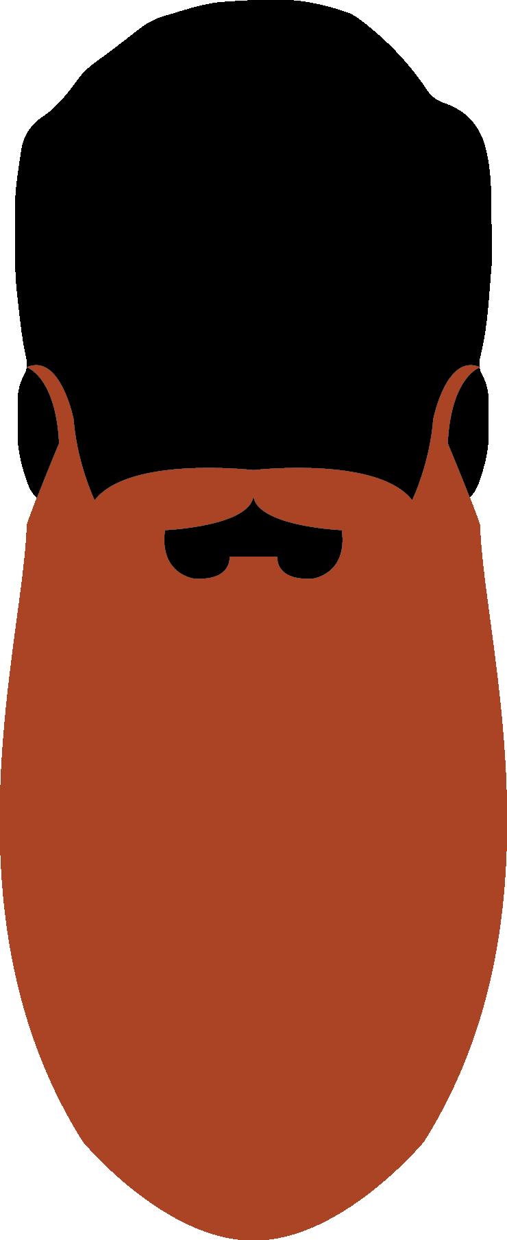 19. Natural Full Beard 45cm
