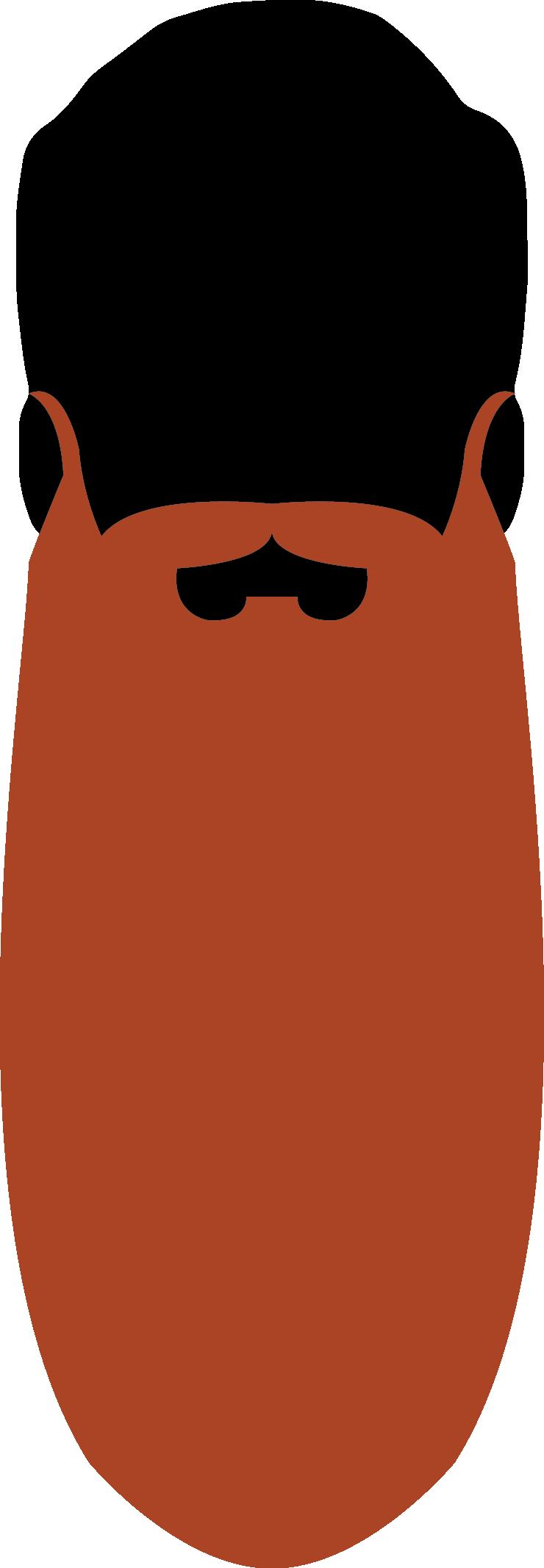 20. Natural Full Beard 60cm