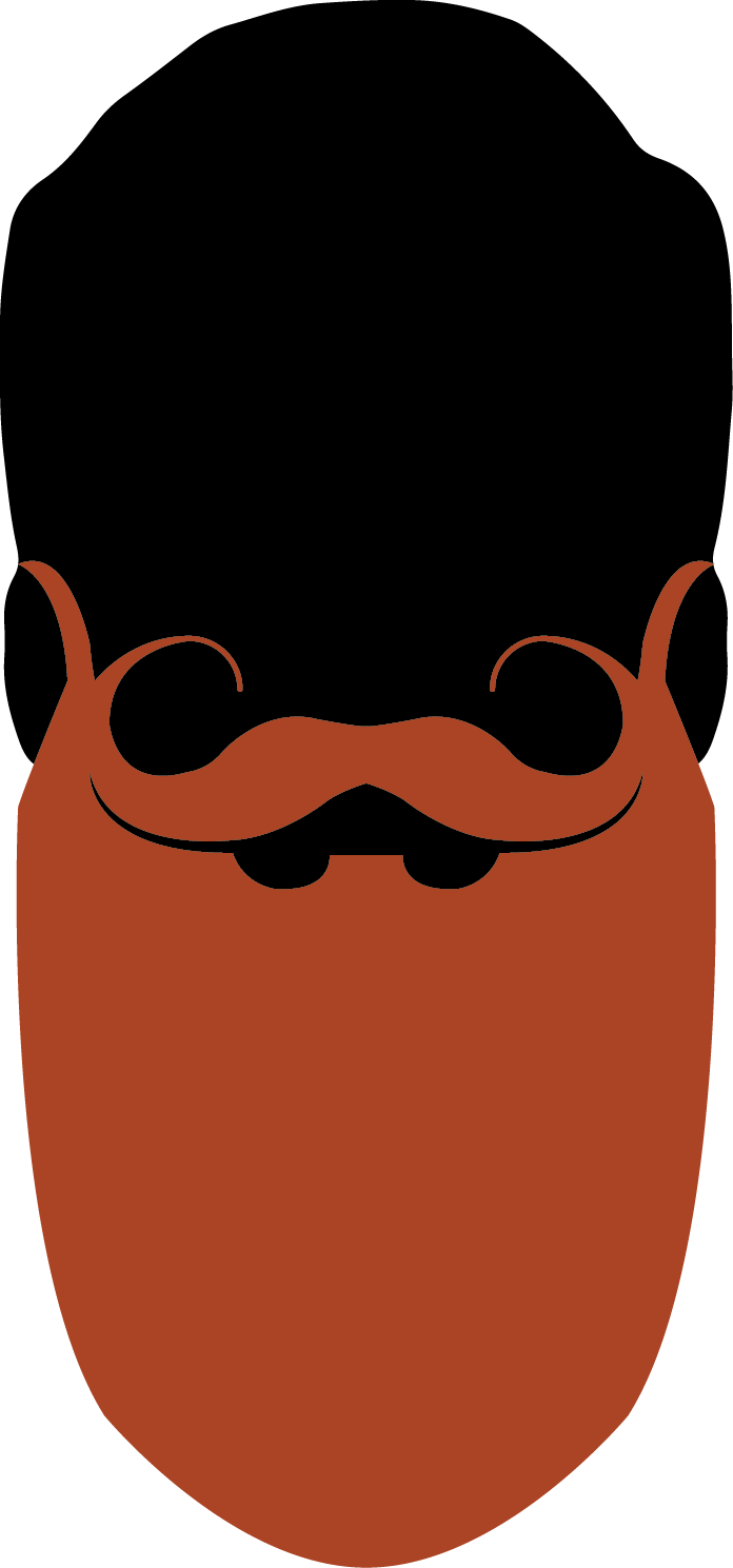 Full Beard with Styled Moustache -