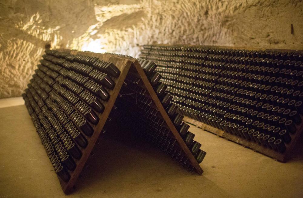 champagne tattinger cellars reims france