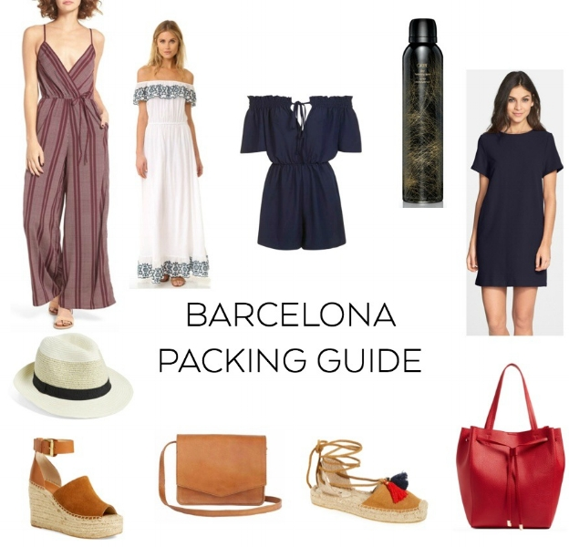 BARCELONA PACKING GUIDE