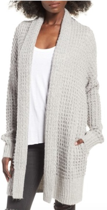 leith waffle knit cardigan