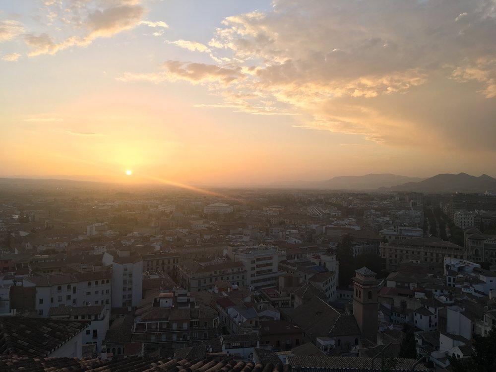 granada spain sunset