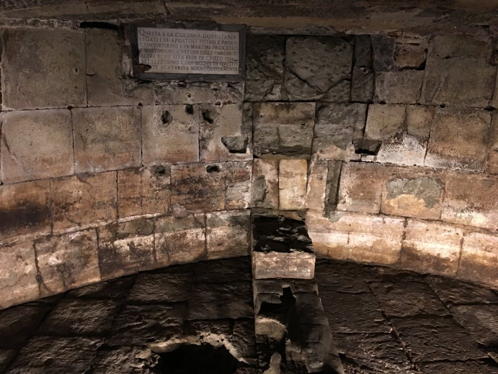 mamertine prison rome italy