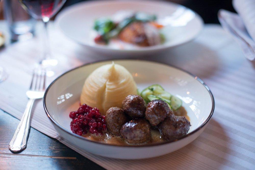 swedish meatballs Den Gyldene Freden