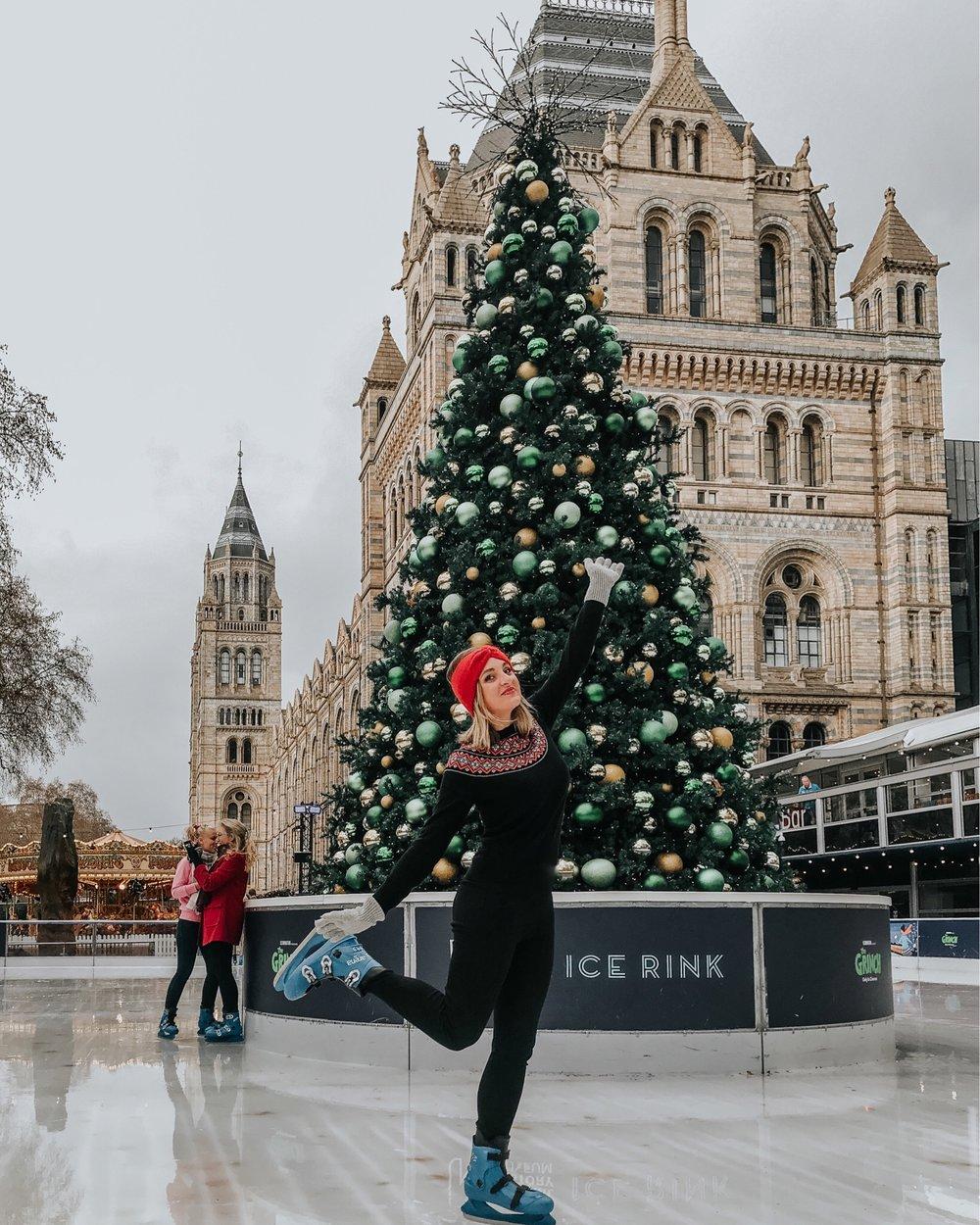 natural history museum ice skating