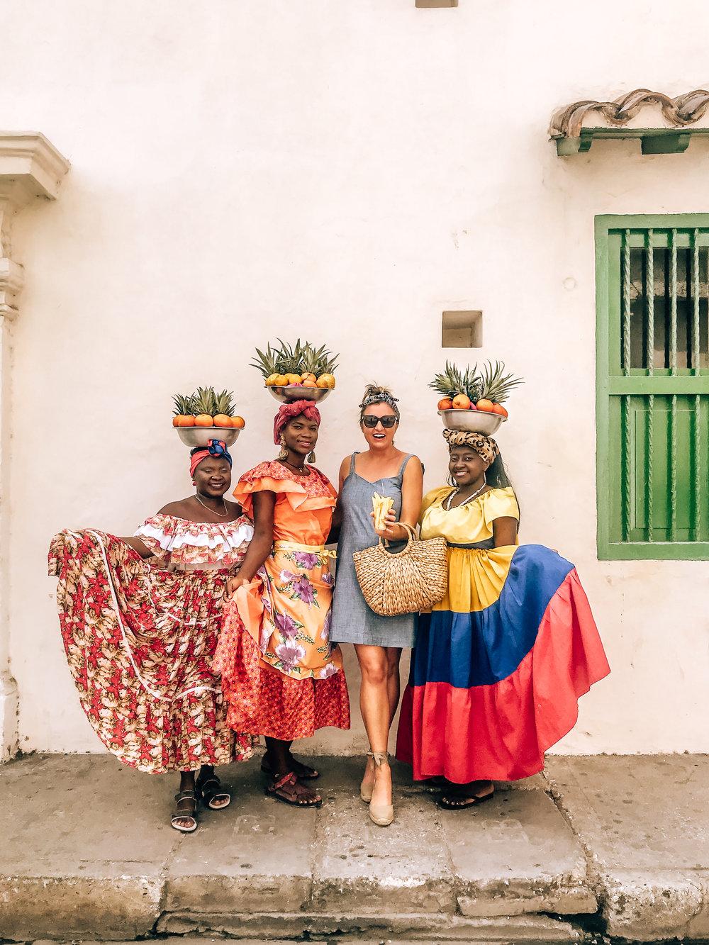 Cartagena Colombia fruit vendors
