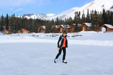 Winter Activities on frozen Muncho Lake